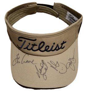 Titleist FJ USA Made Texaco Signed PGA Golf Visor
